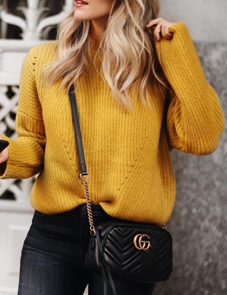 Mustard Sweater (Pinterest)