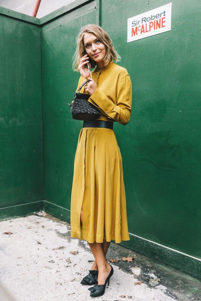Mustard dress (Pinterest)