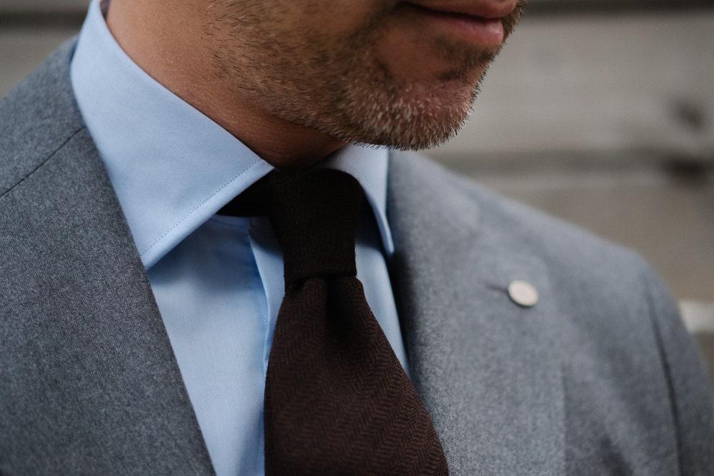 Camicia da Uomo Colletto Francese