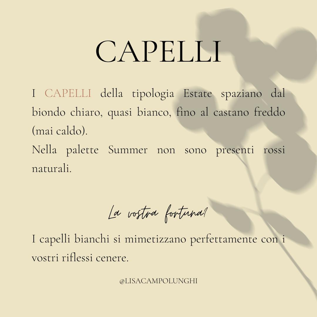 Capelli Stagione Estate Armocromia